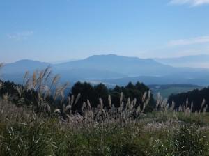 野尻湖を望む