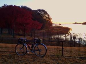 多摩湖夜明け-2