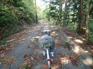 閉鎖林道入り口