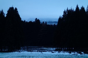 早朝猪苗代湖