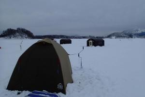 テント設営終わる