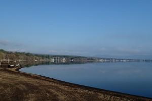 山中湖湖畔遠景