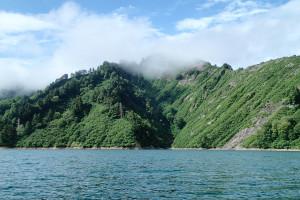 銀山湖山並み