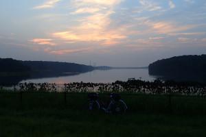 多摩湖夜明け一寸前