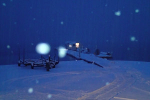 雪の山中湖-1